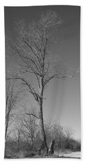 Tree In Winter Bath Towel