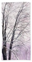 Bath Towel featuring the painting Tree Memories by Melly Terpening
