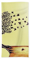 Tree Of Dreams Bath Towel by Paulo Zerbato