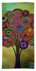 Tree Of Life 2. Version Bath Towel by Klara Acel