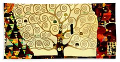 Tree Of Life Hand Towel by Henryk Gorecki