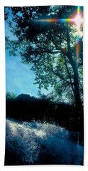 Tree Planted By Streams Of Water Hand Towel by Marie Hicks