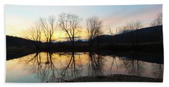 Tree Reflections Landscape Bath Towel