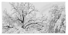 Tree Snow Bath Towel