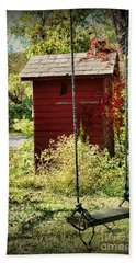 Tree Swing By The Outhouse Hand Towel