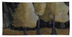Tree Trio Hand Towel by Dick Bourgault