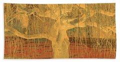 Golden Weeping Tree Hand Towel