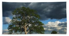 Tree With Storm Clouds Bath Towel