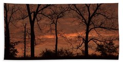 Trees At Sunrise Bath Towel