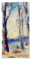 Trees In Winter Bath Towel