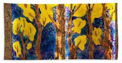 Trees Inside A Window Bath Towel