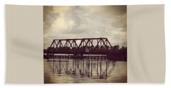 Trestle On The Pamlico River Bath Towel