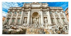 Trevi Fountain - Rome Hand Towel