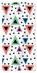 Triangular Dance Repeat Print Bath Towel