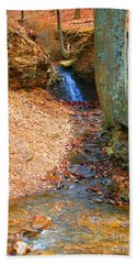 Trickling Waterfall By Shellhammer Bath Towel