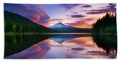 Trillium Lake Sunrise Hand Towel
