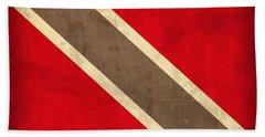 Trinidad And Tobago Flag Vintage Distressed Finish Bath Towel