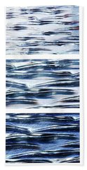 Trio In Blue Hand Towel by Wendy Wilton