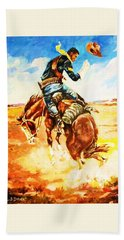 Trooper On A Skiddish Mount Hand Towel