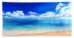 Bath Towel featuring the drawing Tropical Blue by Anthony Fishburne