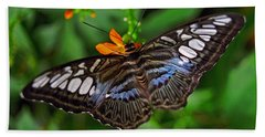 Hand Towel featuring the photograph Tropical Butterfly by Marie Hicks