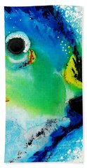 Tropical Fish 2 - Abstract Art By Sharon Cummings Hand Towel