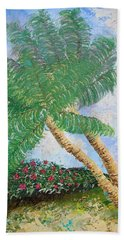 Bath Towel featuring the painting Tropical Flair by Margaret Bobb