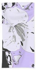 Tropical Floral Violet Black Hand Towel