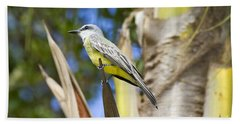 Bath Towel featuring the photograph Tropical Kingbird by Teresa Zieba