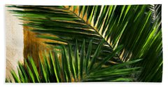 Tropical Leaves Bath Towel