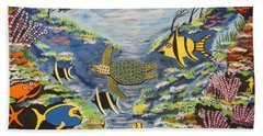 Tropical Paradise Hand Towel by Jeffrey Koss
