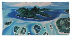 Hand Towel featuring the painting Tropical Skies by Dianna Lewis