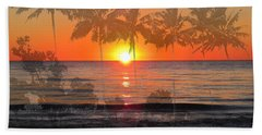 Tropical Spirits - Palm Tree Art By Sharon Cummings Hand Towel