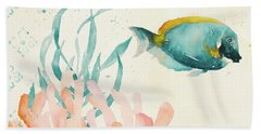Tropical Teal Coral Medley II Hand Towel