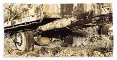 Truck Wreckage II Hand Towel