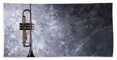 Trumpet Silhouette  Hand Towel