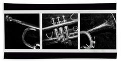 Trumpet Triptych Hand Towel