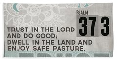 Trust In The Lord- Contemporary Christian Art Hand Towel