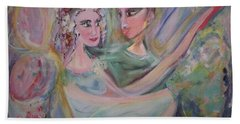 Bath Towel featuring the painting Trust Me On This by Judith Desrosiers