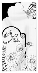 Bath Towel featuring the digital art Truth Time by Carol Jacobs