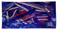 Tsunami Hand Towel by Dick Bourgault