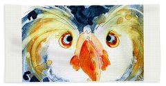 Tufted Puffin Bath Towel by Dawn Derman