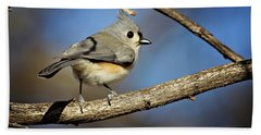 Tufted Titmouse - 1 Bath Towel