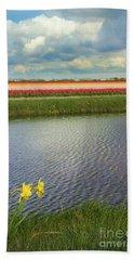 Tulip Fields 4 Hand Towel
