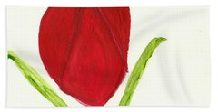 Tulip Of The Heart Hand Towel