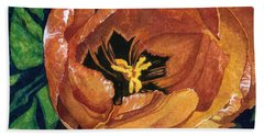 Bath Towel featuring the painting Tulip Swirl by Barbara Jewell