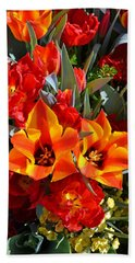 Tulips At The Pier Hand Towel