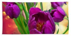 Tulips Bath Towel by Carlos Avila