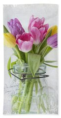 Tulips In A Jar Hand Towel