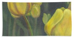 'tulips Stand' Bath Towel